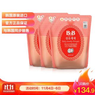 京东PLUS会员 : 保宁 可手洗婴幼儿新生儿童专用洗涤剂袋装 1300ml*3 +凑单品