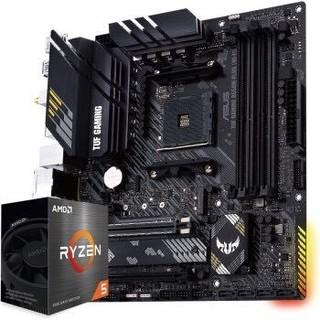 ASUS 华硕 TUF GAMING B550M-PLUS主板   AMD 锐龙 R5-5600X CPU处理器 板U套装