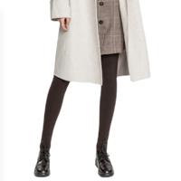 TINCOCO 女士棉质高腰收腹防起球薄款连裤袜10035 深驼180D