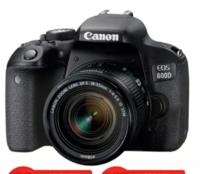 佳能(Canon) EOS 800D  单反数码相机APS-C画幅 内置WIFI NFC 单机+18-55mm STM镜头+优惠套餐