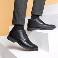 AOKANG 奥康 NF03011045 男款平底系带皮鞋