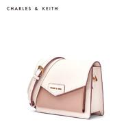预售CHARLES&KEITH单肩包信封包邮差包粉蜡通勤女士翻盖CK2-80680780-1 Light Pink浅粉色 S