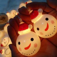 圣诞节装饰led小彩灯圣诞树串灯店铺门店挂灯装饰场景布置灯串