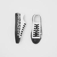 BURBERRY 博柏利 中性运动帆布鞋 80109101 光白色/黑色 38