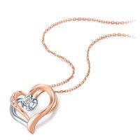 历史低价、唯品尖货、真心好礼:CHOW TAI FOOK 周大福 U173244 浪漫爱心18K金钻石项链