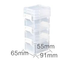 IRIS 爱丽思 桌面储物收纳盒 6.5*9.1*5.5cm*3层