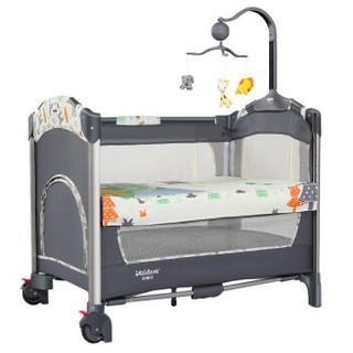 VALDERA瓦德拉多功能折叠婴儿床可对接大床儿童床 9193A长颈鹿豪华款