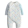 gb 好孩子 儿童纯棉和尚服系带套装 MN20130003 浅蓝