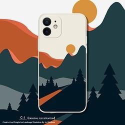 驰爵 适用于苹果12手机壳iPhone12pro美术生直边液态硅胶12mini镜头全包防摔ins简约保护套12promax个性创意男女潮