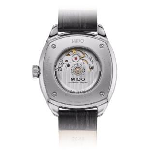 MIDO 美度 BELLUNA布鲁纳系列 M024.507.16.041.00 男士机械手表 40mm 蓝盘 黑色皮质表带 圆形