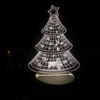 梦尚美 3D小夜灯 圣诞树 插电款