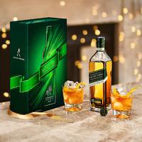 Johnnie Walker尊尼获加绿牌金牌威士忌酒礼盒组合装进口洋酒免息