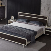 QuanU 全友 125303 现代极简双人床 1.5m+床头柜