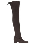 STUART WEITZMAN 斯图尔特·韦茨曼 Genna系列女士真皮粗跟过膝长靴 黑色