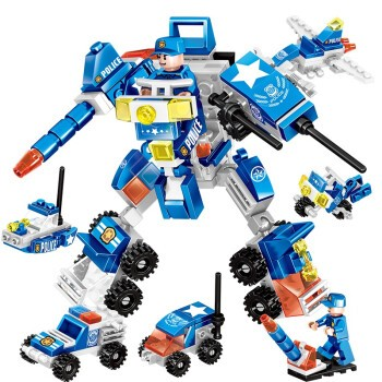 HUIQIBAO TOYS 汇奇宝 积木拼装 城市警察机器人 140颗粒