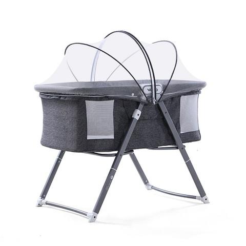 VOVO 婴儿床折叠多功能摇篮 自带蚊帐