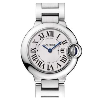 Cartier 卡地亚 W69010Z4 女士石英手表 28mm 白盘 银色精钢带 圆形