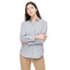 UNIQLO 优衣库 SUPIMA COTTON系列女士棉质立领条纹长袖衬衫430819 湖蓝色XS