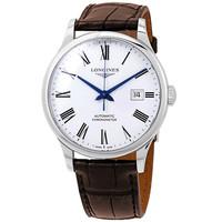 银联爆品日:LONGINES 浪琴 L2.821.4.11.2 男士自动白色表盘男士手表