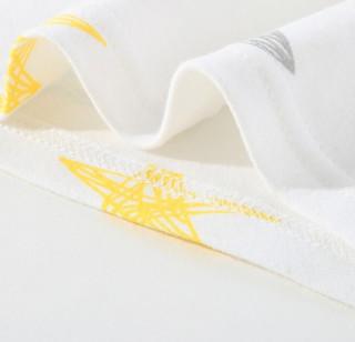 CLASSIC TEDDY 精典泰迪 儿童卡通保暖内衣裤 线条小星星白色 90