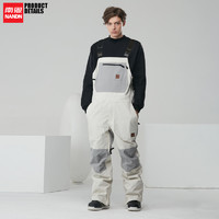 南恩NANDN 20单板背带滑雪裤防水耐磨撞色滑雪服连体男女滑雪装备