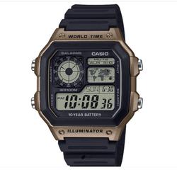 CASIO 卡西欧 AE-1200WHD-1A 男士数字手表