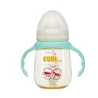 移动专享:baby CUBI 婴儿PPSU奶瓶 210ML 纯净蓝+奶嘴十字孔