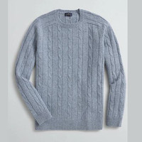 Brooks Brothers 布克兄弟 Cable-Knit 男士羊毛毛衣