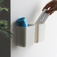 空调遥控器挂架挂壁免打孔手机钥匙收纳盒墙壁架子电视垃圾袋壁挂