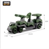 致硕 拆装工程车军事变形组合  送喷水车+运载车