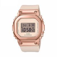 CASIO 卡西欧 G-SHOCK系列 GM-S5600PG-4 女士电子手表 43.8mm 灰盘 粉色树脂表带 方形