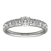 Blue Nile 铂金密钉钻石订婚戒指(1克拉总重量)