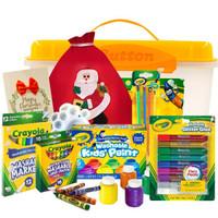 Crayola 绘儿乐JD-2020M 圣诞绘画礼盒9件套  (含画刷颜料贺卡随机礼物) *3件