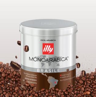 illy 意利 中烘 咖啡粉 巴西风味 125g 罐装(马克杯套装)