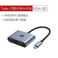 PX大通type-C轉HDMI/VGA轉換器華為手機蘋果電腦Mac筆記本連接電視投影儀同屏線 UCH-30