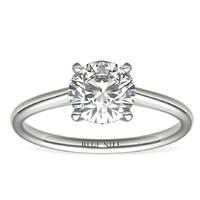补贴购:Blue Nile 1.20克拉圆形切割钻石(切工EX,成色H,净度VS2)+14k 白金单石戒指