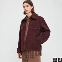UNIQLO 优衣库 设计师合作款系列男士立领拉链夹克432516000 暗红色XS