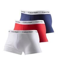 卡尔文·克莱恩(Calvin Klein)CK 男士平角内裤套装套盒 红白蓝三条装 U2664G I03 L