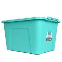 CHAHUA 茶花 悦巧系列 28100 塑料带滑轮收纳箱 58L*3个 薄荷绿