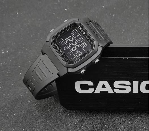 CASIO 卡西欧 W-800H-1BVDF-JX 男士石英手表