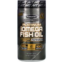 MUSCLETECH 肌肉科技 基础白金版系列 鱼油 胶囊 100粒