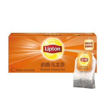有券的上:Lipton 立顿 乌龙茶 韵香乌龙茶 45g 25包 *9件