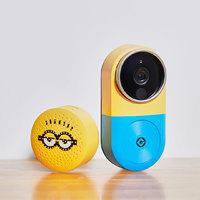 小白 智能视频门铃套装 CMDR001W门铃+CMDR001WJ接收器 小黄人版