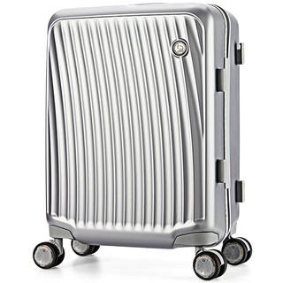 OIWAS 爱华仕 PC万向轮TSA海关锁双杆拉链拉杆箱6620 银色20英寸