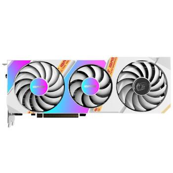 七彩虹(Colorful)iGame GeForce RTX 3060 Ti Ultra W OC 8G 1770MHz 赛博朋克2077游戏光追电脑白色显卡
