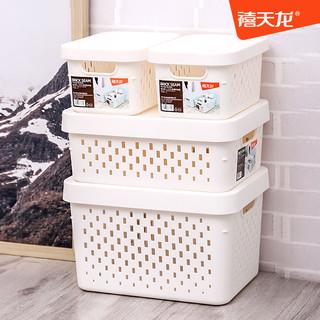 Citylong 禧天龙 禧天龙塑料收纳筐化妆品收纳篮零食置物篮桌面整理盒杂物收纳盒子