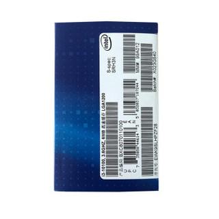 intel 英特尔 酷睿系列 i3-10100F CPU处理器 4核8线程 3.6GHz