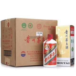 MOUTAI 茅台 飞天茅台系列 53%vol 酱香型白酒 500ml*6瓶 整箱装