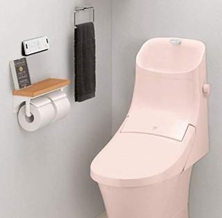 LIXIL 骊住 INAX 厕纸架 带有时尚的木架的2连纸卷器 白色 CF-AA64KU/WA