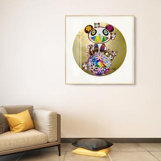 ARTMORN 墨斗鱼艺术 村上隆系列 Panda,panda Cubs,and Flowerball 版画复制品